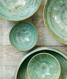 Pure tableware by Pascale Naessens for Serax  #seagreen #tableware…