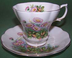 "Royal Albert ""Lyric Style"" Shell Shaped Tea Cup & Saucer  in Pottery & Glass, Pottery & China, China & Dinnerware, Royal Albert | eBay"