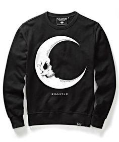 Killstar-Bruxaria-psychobilly-Emo-Gotico-Goth-Ocultismo-Lua-Rocker-sueter-Camisa