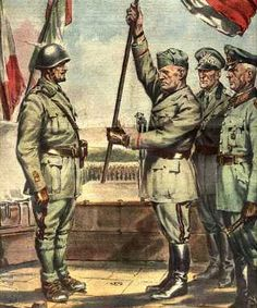"""Italian WW2  """"The Leader among the troops of the Italian Social Republic"""""""