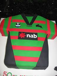 how to make a south sydney rabbitohs cake. Boy Birthday, Birthday Cakes, Birthday Ideas, Rugby Cake, National Rugby League, 50th Party, Cake Decorating Tips, Cake Designs, Mens Tops