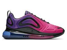 buy popular 64195 0261e Official Nike Air Max 720 Gs Coussin Dair Chaussures de basket Pas Cher  Femme Violet bleu