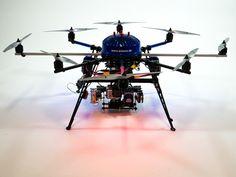 "Multicopter ""Thermocopter PI 640"" mit Infarotkamrea optris PI 640 und miniPC"