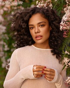 Tessa Thompson Poses in Elegant Looks for Marie Claire Actress Tessa Thompson wears Chanel dress with Chanel Fine Jewelry - Tessa Thompson Marie Claire US 2019 Cover Photos Tessa Thompson, Marie Claire, Chanel Fine Jewelry, Pretty People, Beautiful People, Chanel Dress, Poses, Woman Crush, Powerful Women