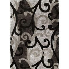 Orian RugsSpirit Black 5 ft. 3 in. x 7 ft. 6 in. Area Rug