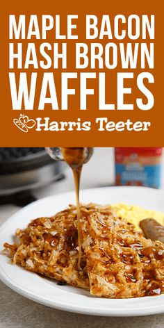 Say good morning to this sweet and savory Maple Bacon Hash Brown Waffle recipe!