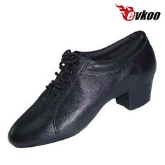 58.60$  Watch here - http://aliszp.worldwells.pw/go.php?t=32688932789 - 4cm Heel Latin Dance Shoes For Man Comfortable Soft Sole Genuine Leather Salsa Tango Dance Evkoo-298 58.60$