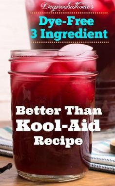 'Better Than Kool-Aid' Recipe: Kid Approved, Happy Mom!, Make the connection between artificial food dyes and hyperactivity. #kids #food #healthy #recipe #drinks #natural #summer #wellness #children #parenting #sweet #health