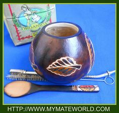 Leaves Mate Gourd Organic Yerba Bombilla Spoon by MyMateWorld