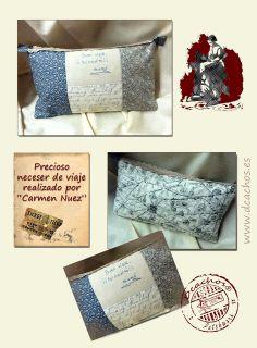students work www.dcachos.es / trabajos de nuestras alumnas  #bag #patchwork #patch #sewing # creative #quilting #handmade #vintage