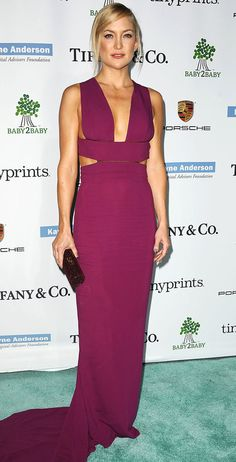 10 Times Kate Hudson Reminded Us She Has Abs | People - in a fuchsia cutout Stella McCartney dress