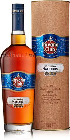 Havana Club Seleccion de Maestros bottle with gift box