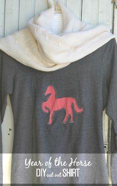Horse DIY Cut-Out Shirt