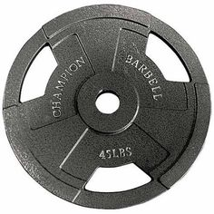 Shop a great selection of Champion Barbell Champion Olympic Grip Plate. Find new offer and Similar products for Champion Barbell Champion Olympic Grip Plate. Training Equipment, No Equipment Workout, Fitness Equipment, Weight Training, Weight Lifting, Gym Workouts, At Home Workouts, Workout Routines, 35 Pounds