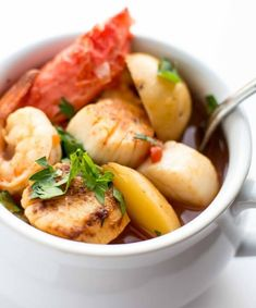 Seafood Stew - There's nothing like a day at the ocean when the weather is warm and the sun is shining. Why not continue that feel-good moment at the dinner table with a fresh seafood stew made with your favorite seafood.