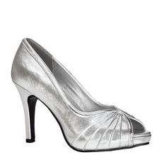 Plain Silver High Heel Wedding Shoes – Erika – Touch Ups