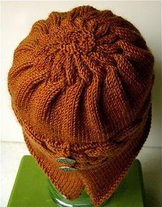 Ravelry: Winfly Hat pattern by Carolyn Doe Crochet Round, Knit Or Crochet, Crochet Hats, Knitting Designs, Knitting Projects, Knitting Patterns, Crochet Patterns, Cross Stitch Quotes, Diy Hat