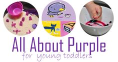 Purple learning activities, books, and sensory box ideas. color learning for toddlers