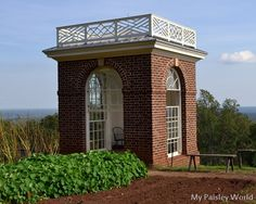 Blog feature on President Thomas Jefferson's Virginia home, Monticello.This is his Garden Pavillion. See more at My Paisley World: http://mypaisleyworld.blogspot.com/