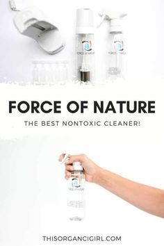 This ain't your mama's salt + vinegar! Force of Nature uses salt, vinegar and water to kill 99.9% of germs including Covid, Salmonella, Norovirus, Listeria, STAPH, MRSA, Pseudomonas & Influenza A. I'm talking, NEXT LEVEL. Testing it around my house, come see before and after pics. #ForceOfNature #nontoxiccleanser #nontoxicliving #thisorganicgirl #organiccleanser #nontoxiccleaning