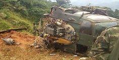 Descartan atentado en caída helicóptero en Colombia
