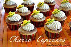 Churro Cupcakes - Lady Behind the Curtain
