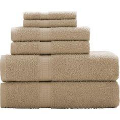 Mainstays Basic 6-Piece Towel Set - Walmart.com