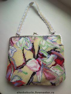 """Бисерная сумочка """"Цветущая магнолия"""" - подарок,сумочка,бисер японский"""