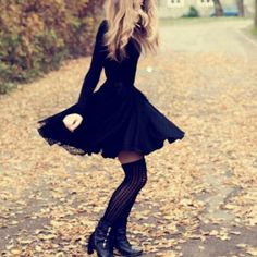 LOVE LOVE LOVE the long sleeve slim fitting fluffy dress! Would so wear this!