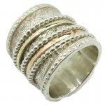 Silver and gold designer #rings at #Bluenoemi. #Spinner_Rings_07          2 CM