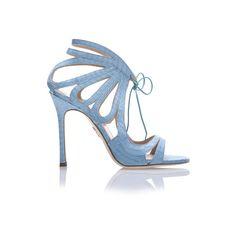 Chelsea Paris Ada Heels (€540) ❤ liked on Polyvore featuring shoes, pumps, aqua, open toe stilettos, heels stilettos, snake print pumps, stilettos shoes and aqua pumps