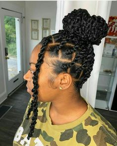 Braids Hairstyles Pictures, Faux Locs Hairstyles, Protective Hairstyles For Natural Hair, Black Girl Braided Hairstyles, Natural Hair Braids, Twist Braid Hairstyles, African Braids Hairstyles, Braids For Black Hair, Twist Braids