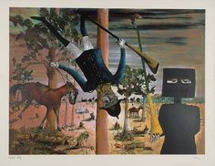 Sidney Robert Nolan The Death Of Constable Scanlon 1971 x 634 mm) Sidney Nolan, Australian Artists, Death, Sydney, Artwork, Painting, Work Of Art, Painting Art, Paintings