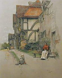 Chiddingstone in Kent Cecil Dog Heaven, Illustration Art, Vintage Illustrations, Art And Architecture, Childrens Books, Illustrators, Watercolor Paintings, Pup, Artwork