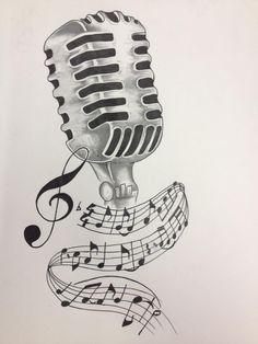 vintage microphone drawing - Google-søgning