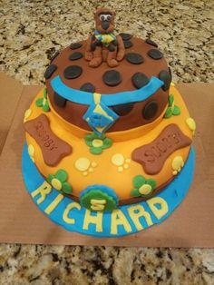 Scooby Doo Cake Scooby Doo Cake, Fondant Cakes, Birthday Cake, Desserts, Food, Tailgate Desserts, Deserts, Birthday Cakes, Essen