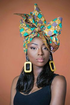 Exciting New Head Wrap Styles ~ Switch Afrique African Men Fashion, African Beauty, Ankara Rock, Moda Afro, Hair Wrap Scarf, Pelo Afro, African Head Wraps, African Dress, African Style