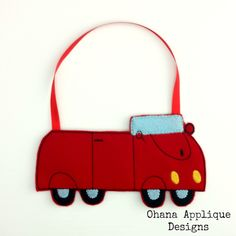 PATTERN Red Car Goody Bag ITH In The Hoop Machine Embroidery Designs (6.00 USD) by OhanaAppliqueDesigns