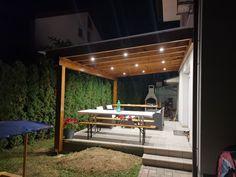 Pergola With Roof, Pergola Patio, Backyard, Patio Ideas, Garden Ideas, Timber Roof, Pergola Lighting, Roof Design, Garden Design