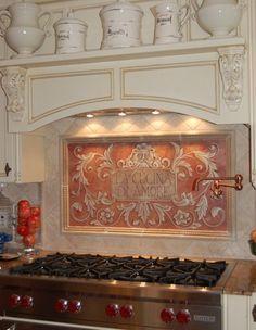 47 Most Popular Mediterranean Kitchen Design Ideas Trend 2019 14 - Craft Home Ideas Kitchen Backsplash Designs, Tuscan Kitchen, Mediterranean Kitchen Design, Mediterranean Style Kitchens, Kitchen Backsplash Images, Mediterranean Home Decor, Kitchen Styling, Backsplash Designs, Kitchen Design