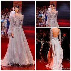 2014 Newest Appliqued And Beaded Decorated Elie Saab Celebrity Dresses | Buy Wholesale On Line Direct from China