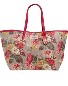 Cath Kidston | Cath Kidston Leather Trim Large Tote in Autumn Bloom Print at ASOS