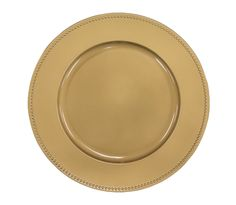 """Beaded Round 13"""" Charger Plates - Gold ● As Low as $2.00 ● Available from www.cvlinens.com"""