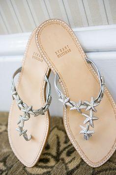 Cute wedding shoes for a beach wedding