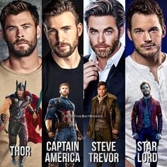 #chrishemsworth #chrisevans #chrispine #chrispratt
