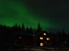 See the Aurora Borealis at Taste of Alaska Lodge. It is set up nearly ideally for this. Rooms in the lodge have patio doors for exiting mid-night to check the sky, with chairs for comfort while viewing or waiting. It's easy to set up your camera & tripod in the warm comfort of your room and then take it outdoors when the lights appear. -- photo by Dorothy Thompson -- AFAR -- 1-10-17