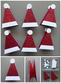 Simple Santa Hat Treat Toppers | Inspired by Janet Baker | Created by Rachel and Katie Legge rachelleggestampinup.wordpress.com