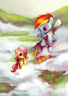 ThePonyArtCollection: Dash and Fluttershy