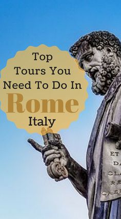 Top tours you need to do in Rome Italy. Top Rome Attractions. Colosseum. Roman Forum. Vatican. Vatican City. Sistine Chapel. Tivoli (Hadrian's Villa and Villa d'Este) Pantheon and much more. Click to see our full guide packed with what tours you have to take and what tours you should skip at http://www.divergenttravelers.com/3-days-in-rome-things-to-do/
