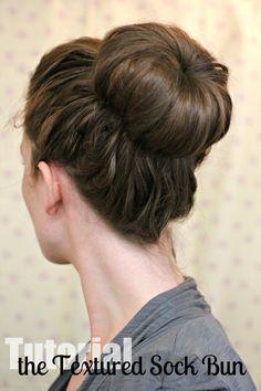 Hair Tutorial // the Textured Sock Bun